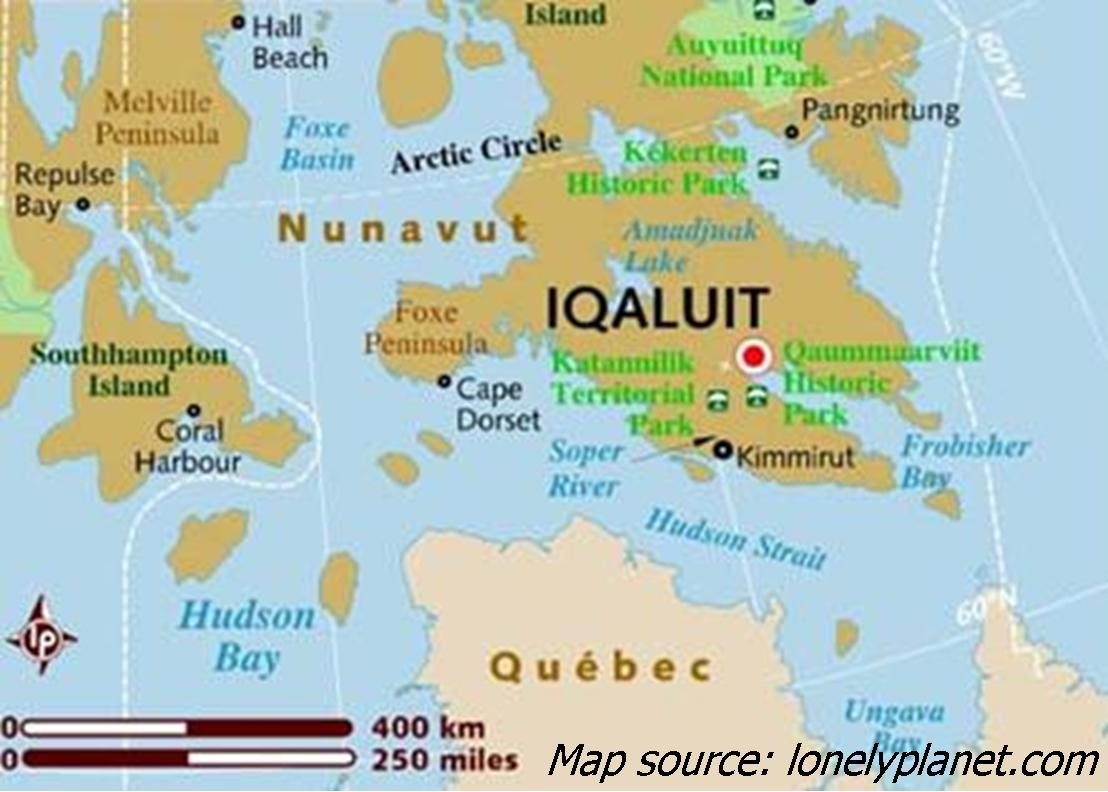 Iqaluit Frobisher Bay Canada Cruise Port Of Call - Hudson bay on world map